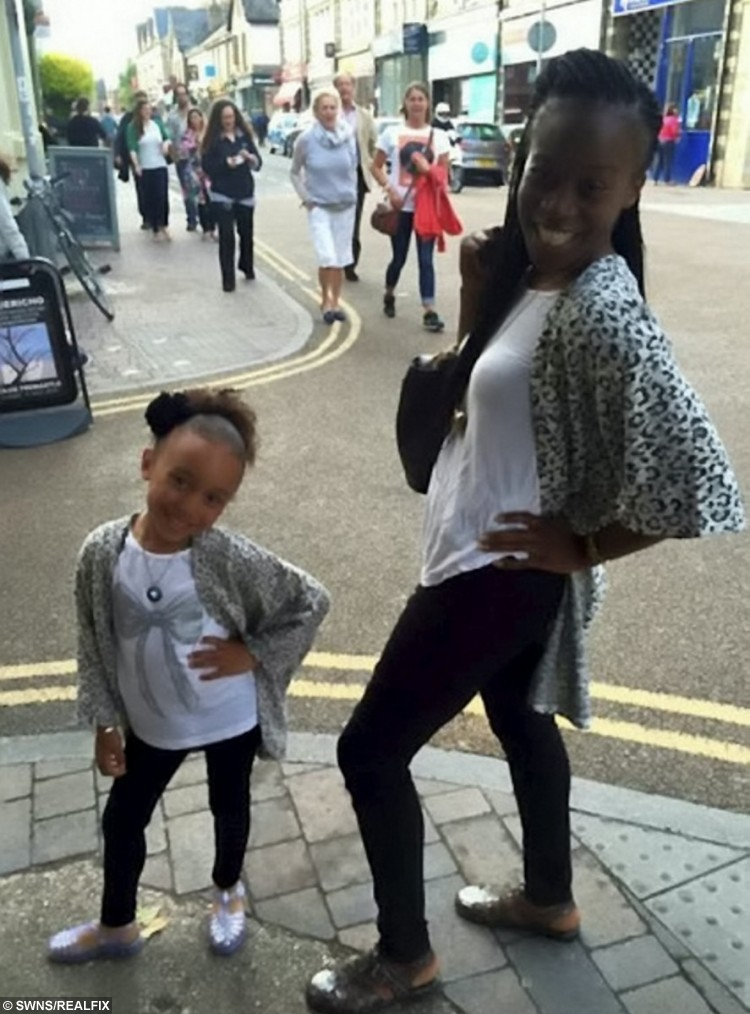Seven year old dance sensation Jenaya Hall-Williams with her mum Cherelle Williams, 29
