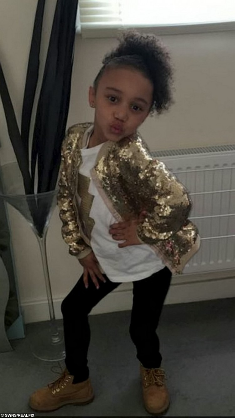 Seven year old dance sensation Jenaya Hall-Williams