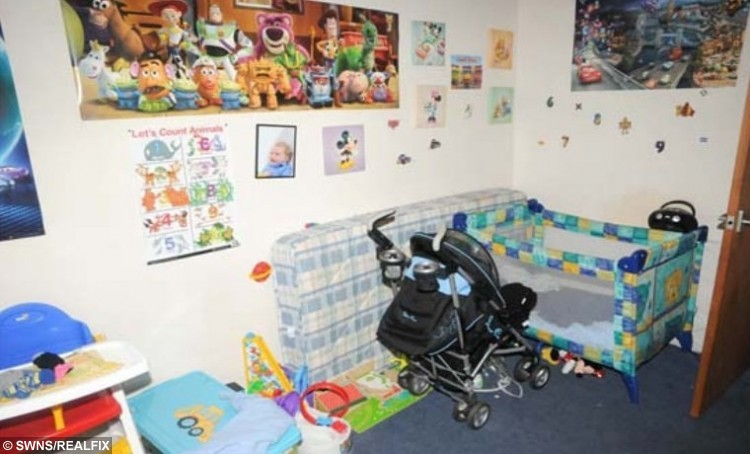 FILE PICTURE - Crown Office production of Liam Fee's bedroom. Liam Fee who was found dead in the property in Thornton, Fife in March 2014. Liam was found by emergency services after a neighbour heard a woman's screams coming from the flat.Nyomi Fee and Rachel Fee, mother of Liam Fee, have been sentenced at Edinburgh High Court for the toddler's murder in March 2014. A mother and her civil partner have been sentenced to life in prison for the murder of her two-year-old son. Rachel Fee, 31, must spend a minimum of 23 and a half years in jail and Nyomi Fee, 29, a minimum of 24 years for the murder and ill-treatment of Liam Fee. The toddler, who was Rachel Fee's son, died at his home near Glenrothes, Fife in March 2014. He had suffered a ruptured heart as a result of severe blunt force trauma to his body.