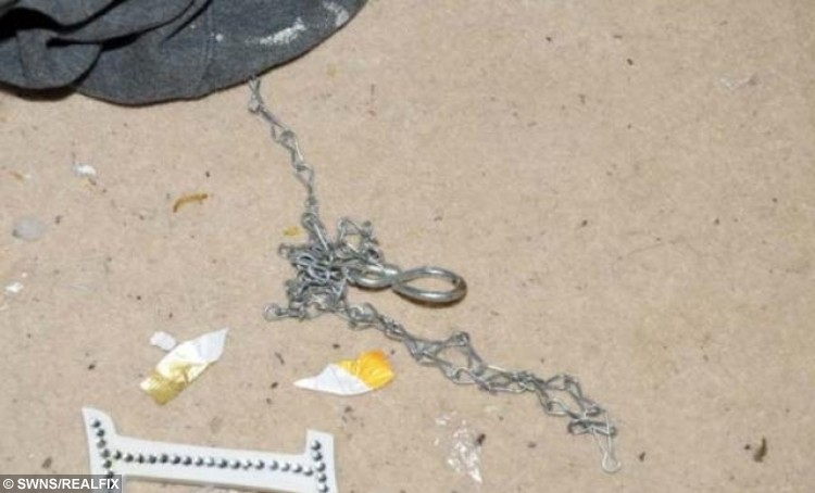 FILE PICTURE - Crown Office production of a chain used to tie the boys to a 'cage' referred to in court. Liam Fee who was found dead in the property in Thornton, Fife in March 2014. Liam was found by emergency services after a neighbour heard a woman's screams coming from the flat.Nyomi Fee and Rachel Fee, mother of Liam Fee, have been sentenced at Edinburgh High Court for the toddler's murder in March 2014. A mother and her civil partner have been sentenced to life in prison for the murder of her two-year-old son. Rachel Fee, 31, must spend a minimum of 23 and a half years in jail and Nyomi Fee, 29, a minimum of 24 years for the murder and ill-treatment of Liam Fee. The toddler, who was Rachel Fee's son, died at his home near Glenrothes, Fife in March 2014. He had suffered a ruptured heart as a result of severe blunt force trauma to his body.