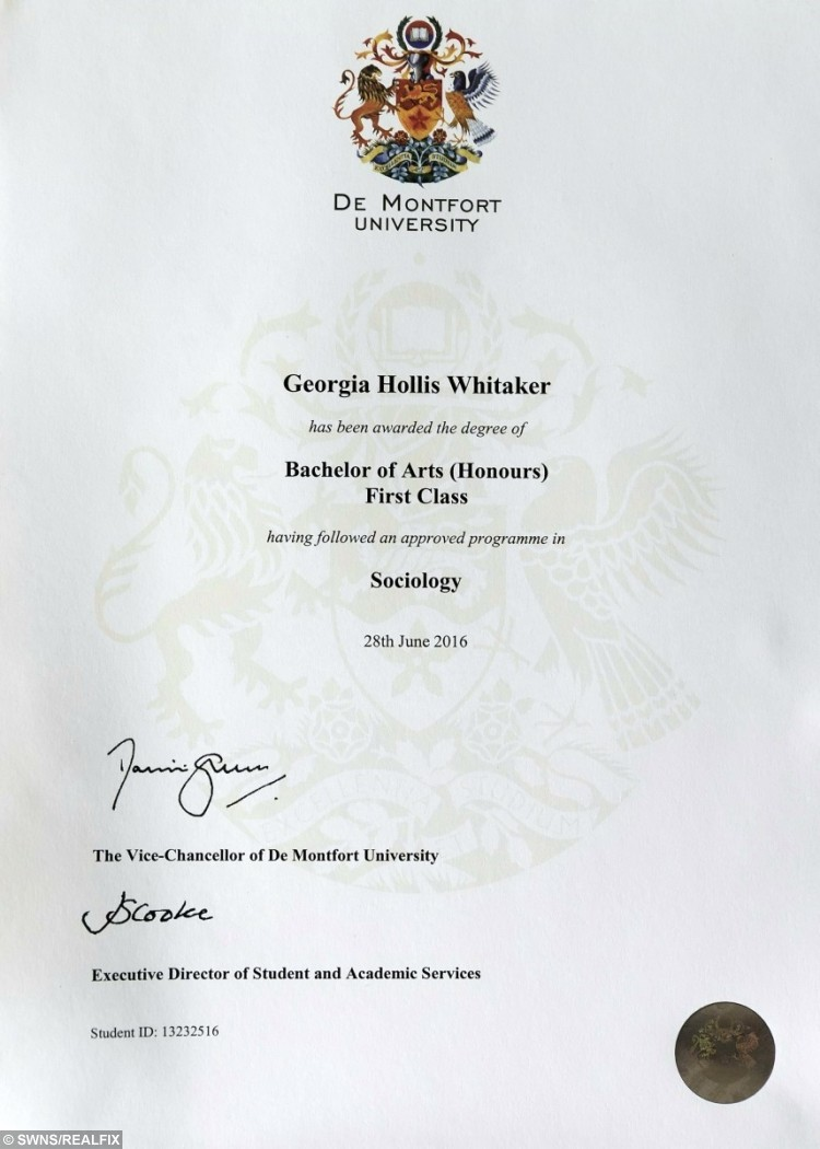 Nice First Class Honours Intended First Class Degree