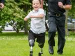 Schoolboy who lost both legs to meningitis back on feet with false limbs