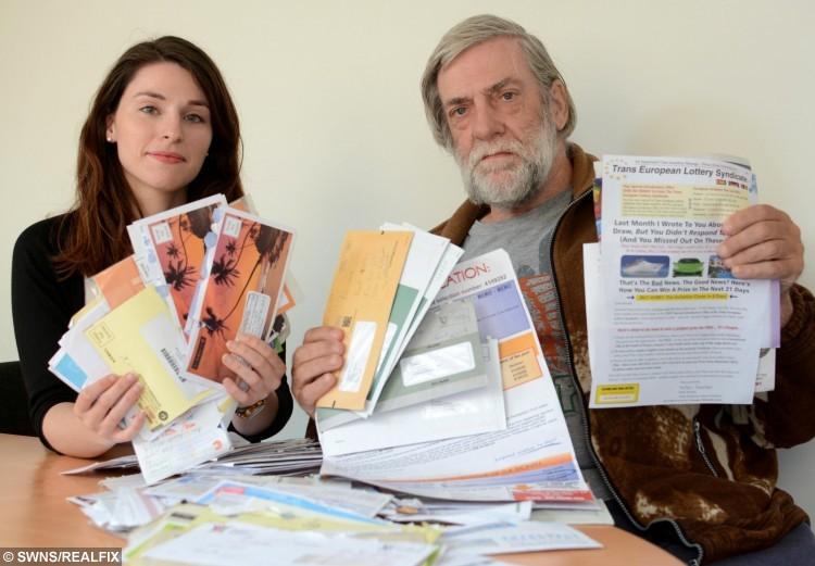 Raymond Rose who has been a victim of scam mail pictured with Ines Lage of the Citizens Advice Bureau