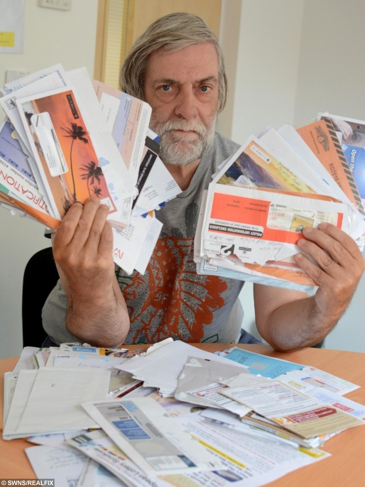 Raymond Rose who has been a victim of scam mail.