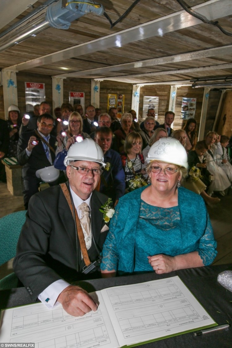 Sharon Hinchcliffe and Alan Torr tie the knot 140 metres underground