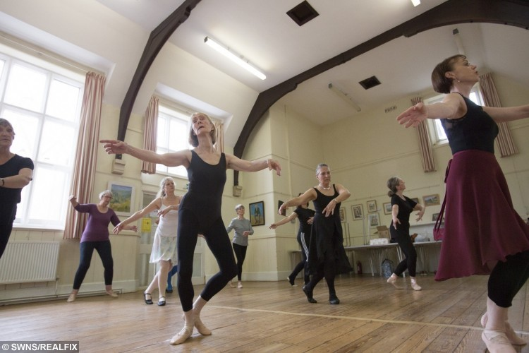 Ballet class at Painswick Church Hall in Painswick, Gloucestershire
