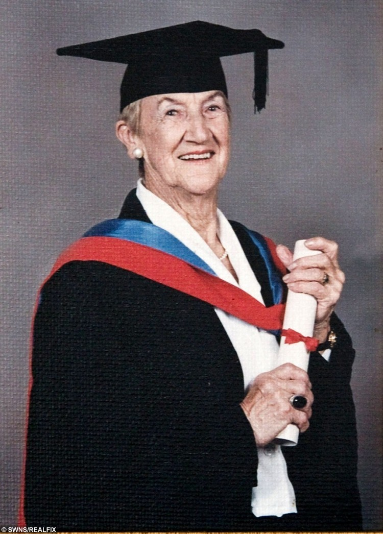 101-year-old Jessie Power from Hayle, Cornwall, who graduated with a fashion design degree aged 91