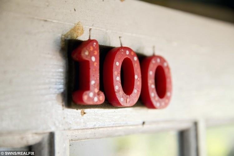 Jessie Power from Hayle, Cornwall on her 100st birthday