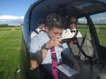 Arriving in style! Three schoolboys fly to prom in a HELICOPTER