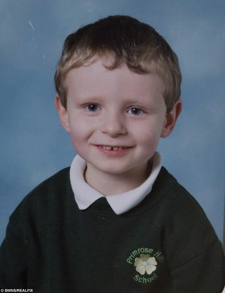 Liam Pierce aged 6