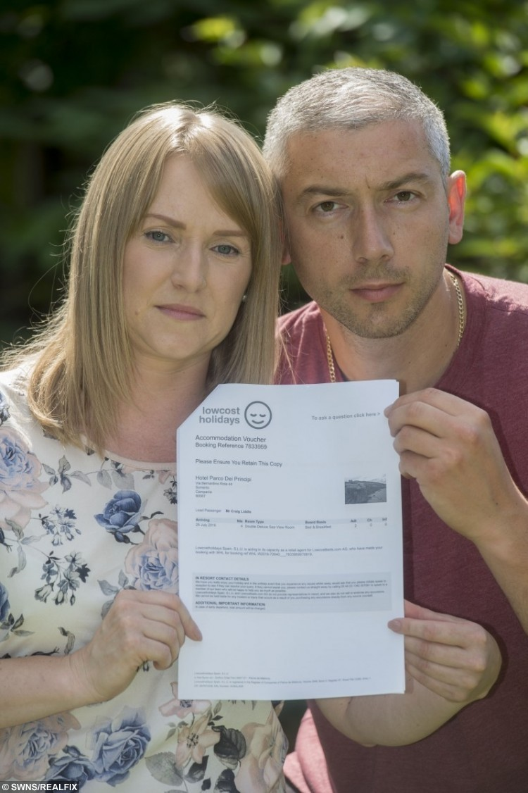 Joanna Tully, 37, and fiancee Craig Liddle, 38, of Carr Manor View, Moortown, Leeds