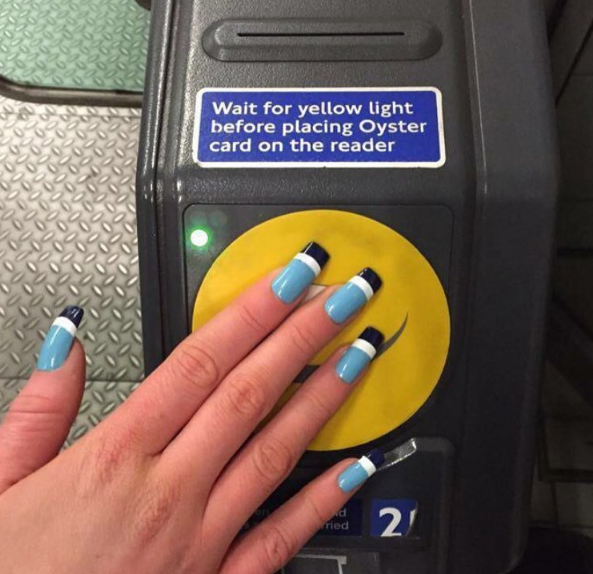 Student embeds Oyster card in her fake NAILS to use on London Underground commute