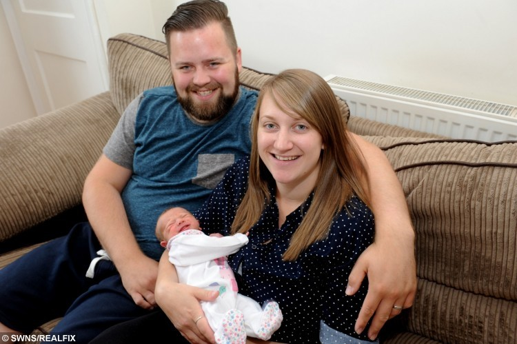 Tom and Jessica Stubbins with their daughter Lucy Georgia