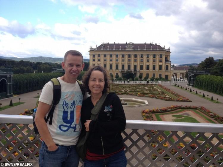 John Piears with his wife Beata