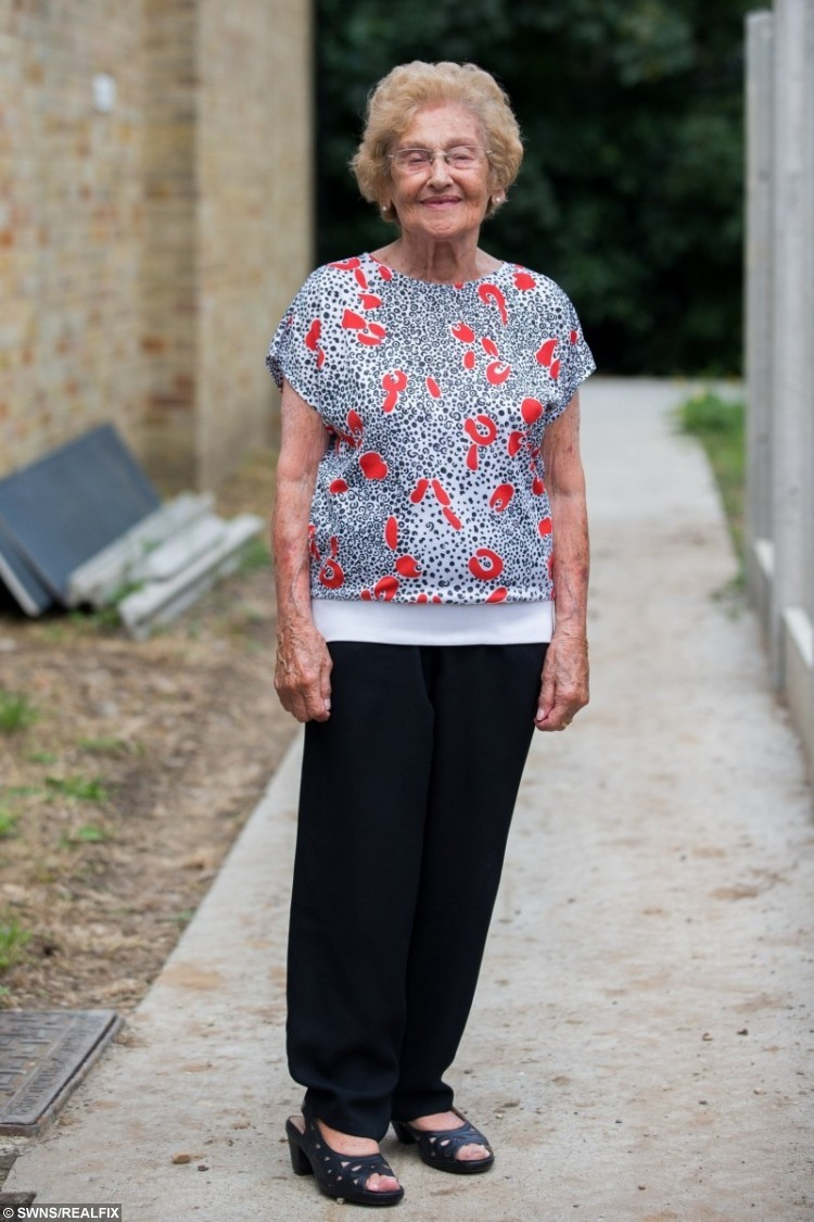 Minnie Solomons, 99, leads a fitness class for elderly people