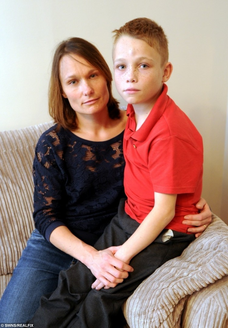Matthew Pietrzyk and his mum, Nicola from Glenfield, Leicester