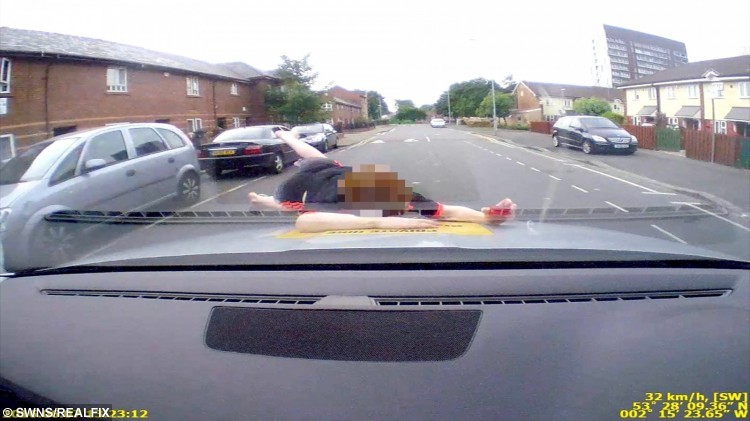 This dramatic new dashcam footage has captured the terrifying moment a boy is hit by a van and has a very lucky escape