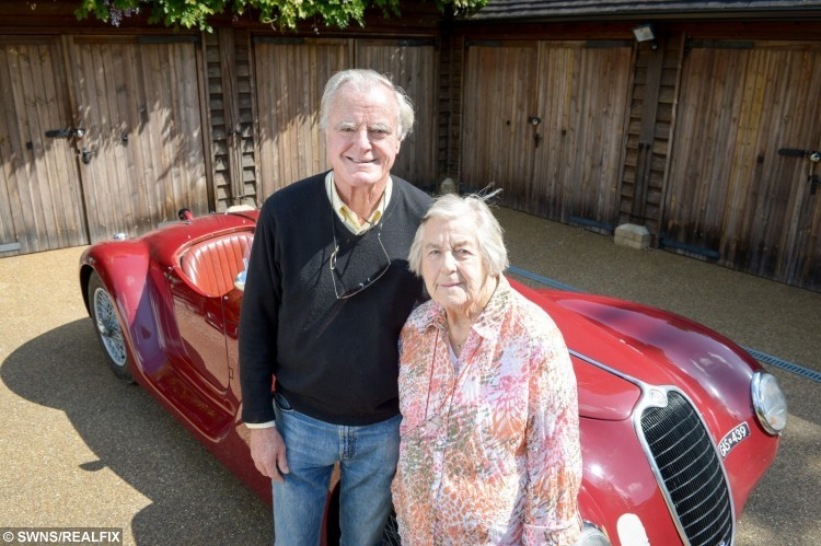 Dorothy Caldwell, 97 with son Alastair Caldwell