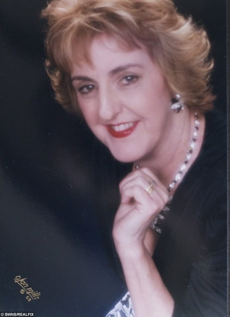 Jackie Sansum aged 50 while she was performing as a professional opera singer.