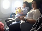 Video captures woman who gave birth on plane at 30,000FT