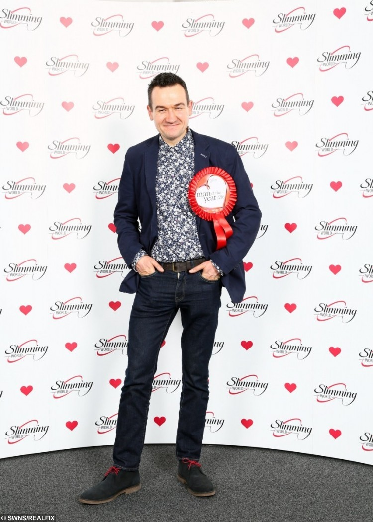 Slimming World's Man of the Year 2016, Danny Crosby.