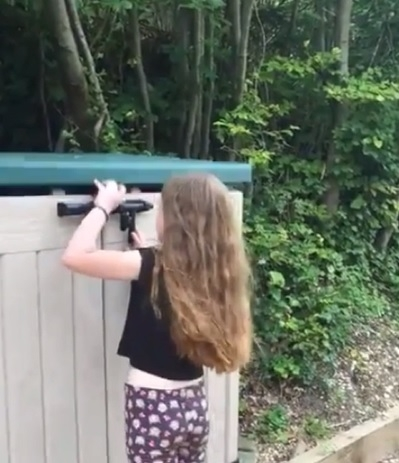 """Eight-year-old girl moves bins that binmen say are """"too hard"""" to shift"""