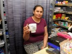 """Not now i'm having a cuppa"" : Shop owner confronted by knife-wielding robber calmly told him he'd have to wait – because she was having a cup of TEA"