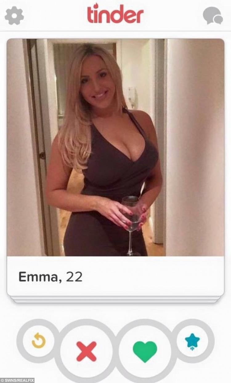The fake Tinder account