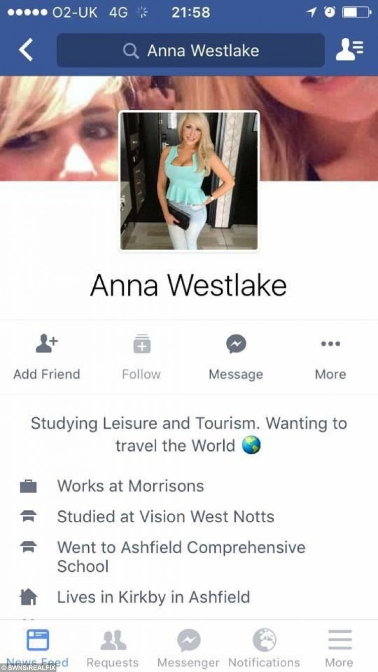 One of the fake Facebook accounts