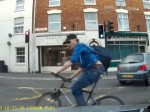 WATCH : Idiot cyclist's very near miss with car