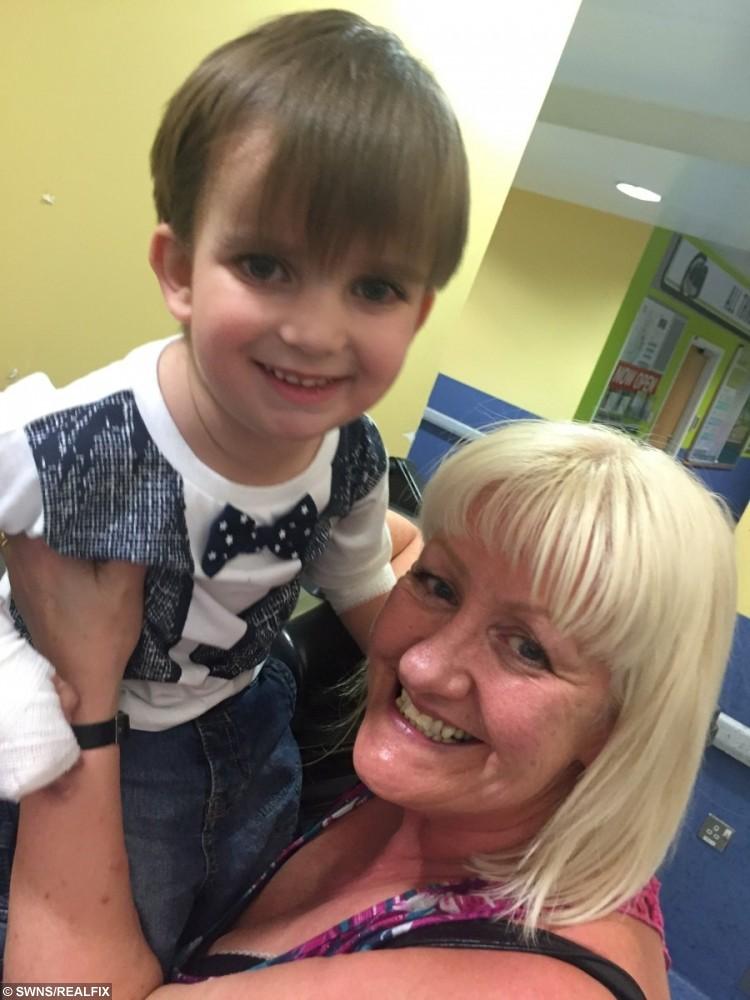 Little Jack Cox and his lifesaving gran Julie