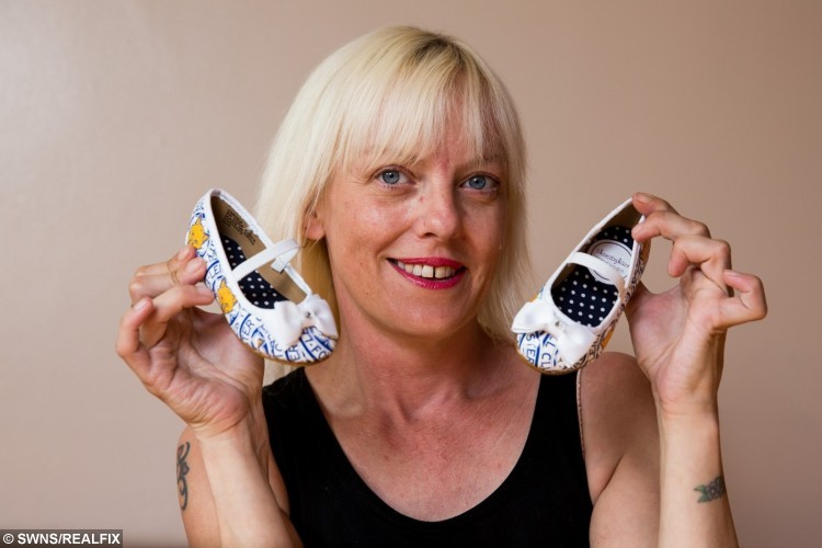 As well as four-inch heel stilettos, she also designs womens' flat shoes and kids shoes