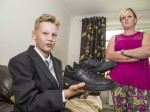 Mum furious after son is sent home because his £48 Clarks school shoes 'look too much like trainers'