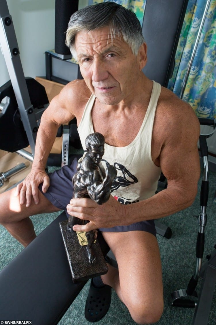 David Brice, 70, has just won the Over 70's Natural Bodybuilding British Finals