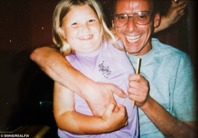 Neville Gillespie with his daughter Amber in 2005