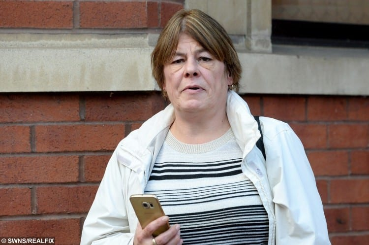 Amanda Donnelly outside Leicester Magistrates Court