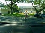 Supercar owner catches kid riding bike on Lamborghini roof