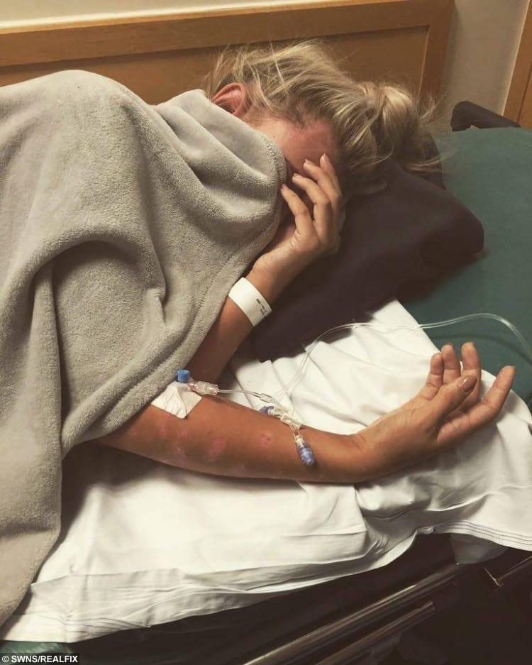 Bryony Suffering in hospital