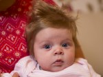"""""""She gets likened to all kinds of celebrities"""" : This baby is a real head-turner thanks to her thick mop of hair!"""