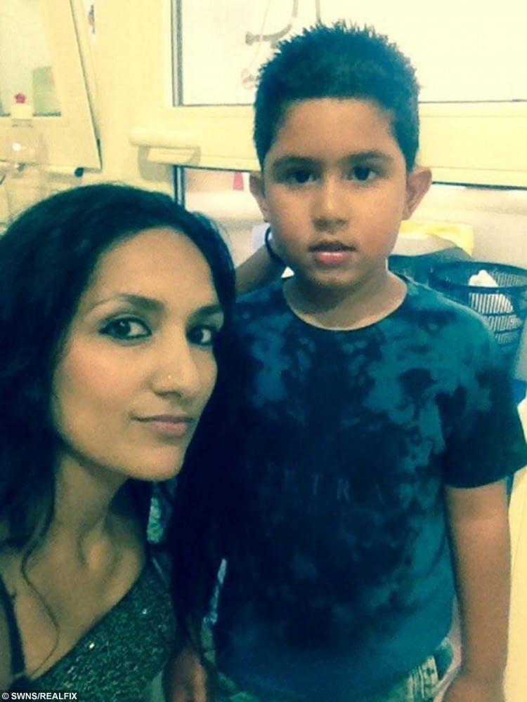 Rico Sangha and his mum Monica