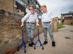 Nine-Year-Old Boy Finally Takes His First Steps And Achieves His Dream Of Walking With His Twin Brother