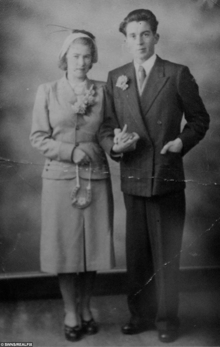 A wedding photograph of Catherine and John Henry Wilce