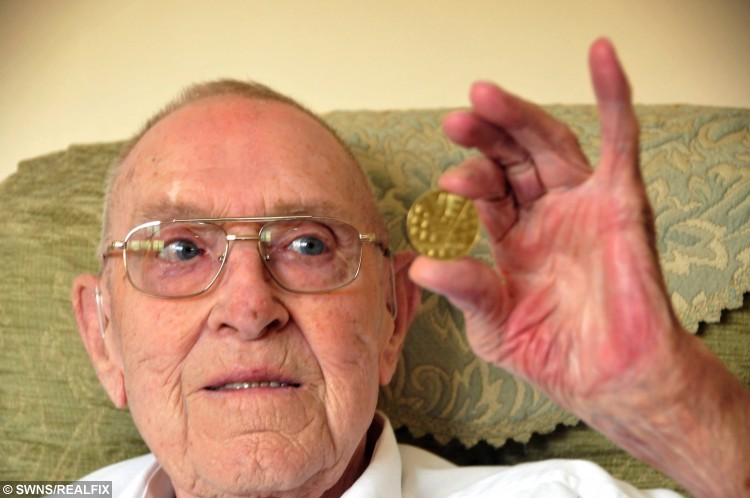 Peter pictured with his VE Medallion