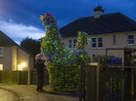 Pensioner Turns 14ft Cockerel Into A Giant Festive Display