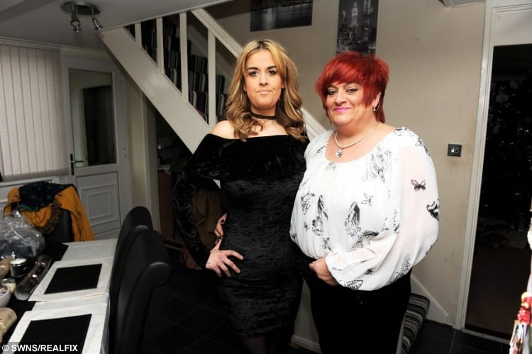 Stacey Lamb with her mum Jenny