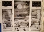 Dad Creates Stunning Winter Landscapes On Windows Using Snow Spray