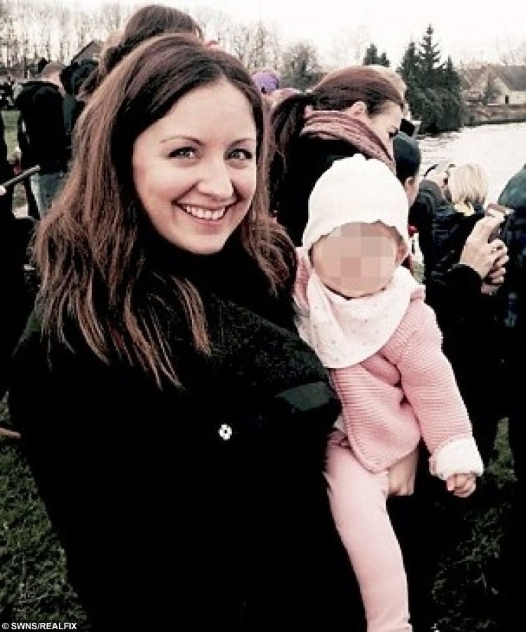 Katie Langan, 33, with daughter Layla