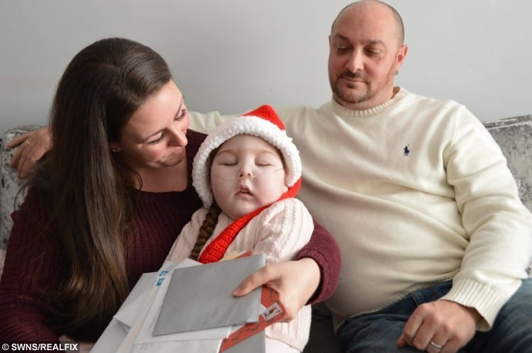 Ezmae Catley ,4 with mum Claire Morrish and dad David Catley
