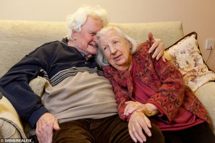 Ken Selway and Joan Neininger pictured at their residential home in Gloucester.