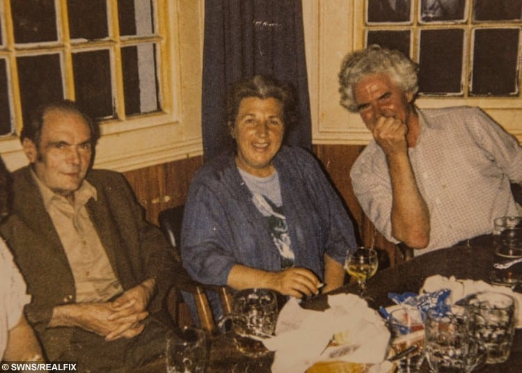 Norman, Joan's first husband with Joan Neininger &Ken Selway in The Cannon pub Gloucester.
